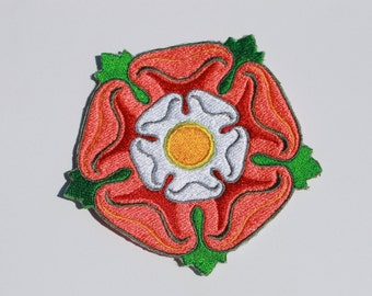 Embroidered Tudor Rose  Renaissance 4 inch Patch or 2 inch patch