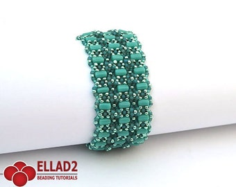 Tutorial Amarante Bracelet - Beading tutorial, beading pattern, jewelry tutorial, Instant download