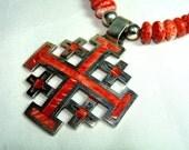 Geniune Pueblo Santo Domingo NATIVE Necklace with SPINY OYSTER