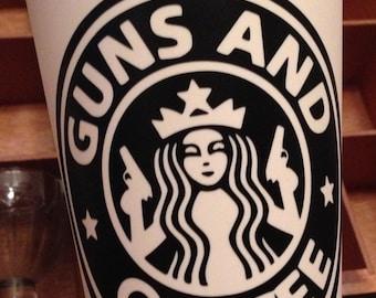 16 oz Guns and Coffee Tumbler