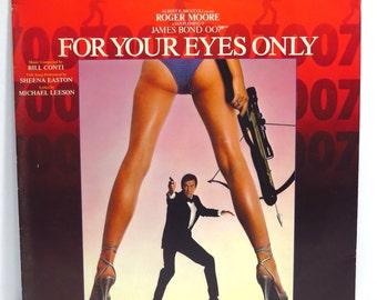 For Your Eyes Only James Bond 007 Album Cover Purse Custom Made Vintage Record Purse LP Album Handbag Tote