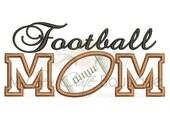 Football Mom Applique - Football Mom Applique Embroidery Design - 6 Sizes