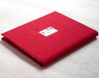 Photo Album Wallet in Red Scarlet