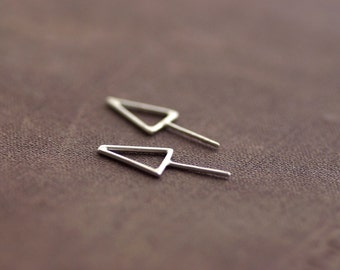 Arrow Sterling Silver Stud Earrings - Choose your finish