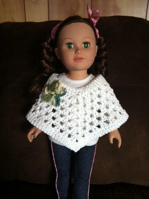 18 Inch Doll Crochet Poncho fits dolls like by SissalinasShop