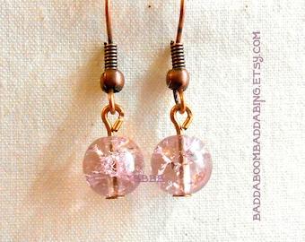 Lavender Crackle Earrings