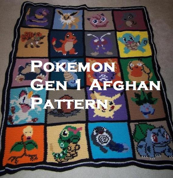 Crochet Patterns Pokemon : Pokemon themed Afghan pattern by stephyw2001 on Etsy