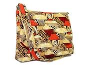 Women's Messenger Bag, Cross Body Purse, Southwest Theme Crossbody Bag, Painted Pots Print, Cotton Fabric Purse, Fabric Pocketbook, Handbag
