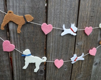 Custom Dog Garland, Dog Bunting, Dog Party, Sharpei, Shar-pei, Labradoodle, Westie, Custom Dog Art