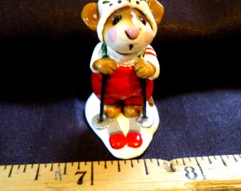 Wee Forest Mouse on Skis**1979**Signed!**