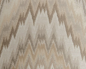 Flame Stitch Tahini brown decorative pillow cover