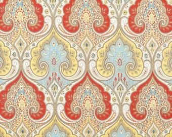 Latika Festival colorful medallion linen red blue yellow decorative pillow cover accent pillow