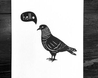 Messenger Pigeon, Original Paper Cut Art