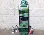 Cleveland Skateboard Wall Art No. 85 by Garrett Weider