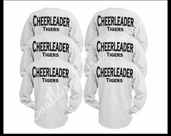 Cheerleader Spirit Jersey, Custom Cheer Squad, Wedding Oversized Spirit Jersey