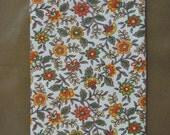 Vintage Gold Orange Green Feedsack Flour Sack Fabric 44X36.5
