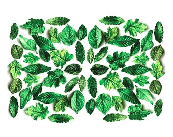 Edible, Candy Green Leaves (2 dozen) - Stand alone candy, wedding cake decoration, wedding favor, host gift.