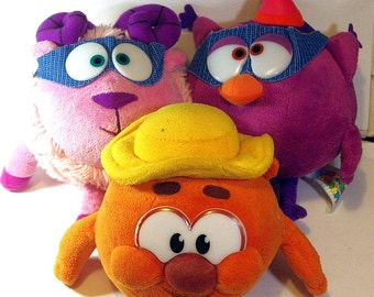 Kopatych, Barash and Sovunya - 3 soft toys from Smeshariki - animated television series