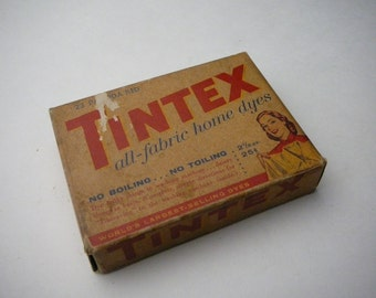 Vintage Tintex Box with Dye 23 Pagoda Red