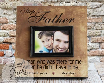 Step Father Picture Frame, Step Dad Personalized Picture Frame, Father's Day Gift for Step Dad