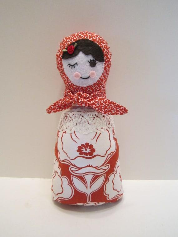 CLEARANCE - Russian Babushka Matryoshka Folk Doll Stuffed Soft Cuddly Toy Doll for Girls - LAST ONE