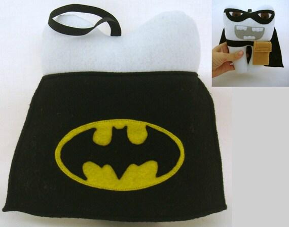 Batman themed tooth fairy pillow by littledollcloset on etsy for Batman fairy door