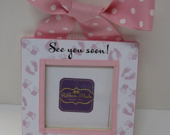 Ultrasound Frame Little Hands and Little Feet Design- See you Soon!