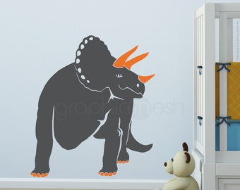 Wall decals TRICERATOP DINO Vinyl art stickers - Nursery & kids decor
