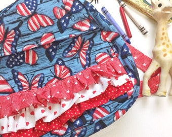 READY TO SHIP toddler backpack -- fourth of july butterflies