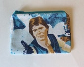 Star Wars A New Hope Zipper Pouch - Small Zip Pouch Coin Purse Wallet - Upcycled made from vintage fabric