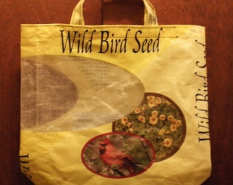 NEW LOW PRICES, 4 Sizes, 4 Colors, Upcycled Recycled Repurposed  Grocery Market Tote or Gift Bag for Bird Lovers