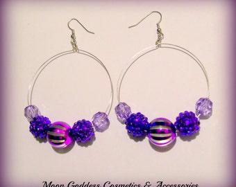 Purple Passion Hoop Earrings
