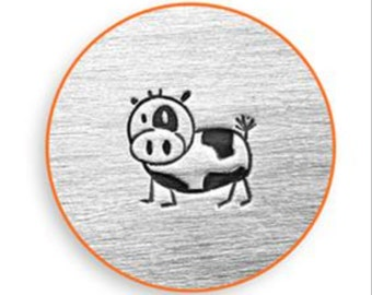 Cow Metal Stamp Etsy