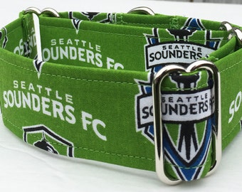 MLS, Seattle Sounder Adjustable Martingale Dog Collar - Made to Order -