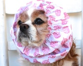 Glitter Crowns Dog Snood, Princess, Stay Put 3 Row Elastic Threads, Cavalier King Charles or Cocker Snood, Loopy Snood