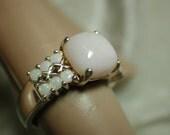 Sterling Silver Ring with Genuine 2.15 ct. Australian Opal SZ 7 u14p97
