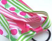 Preppy Pink Pineapple Ponytail Streamer