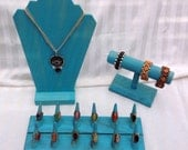 Combo ~ Wood Ring Display ~ Bracelet Stand ~Ring Display ~ Necklace Stand ~ Bracelet Display ~ Ring Organizer ~ Wooden Display ~ Craft Show
