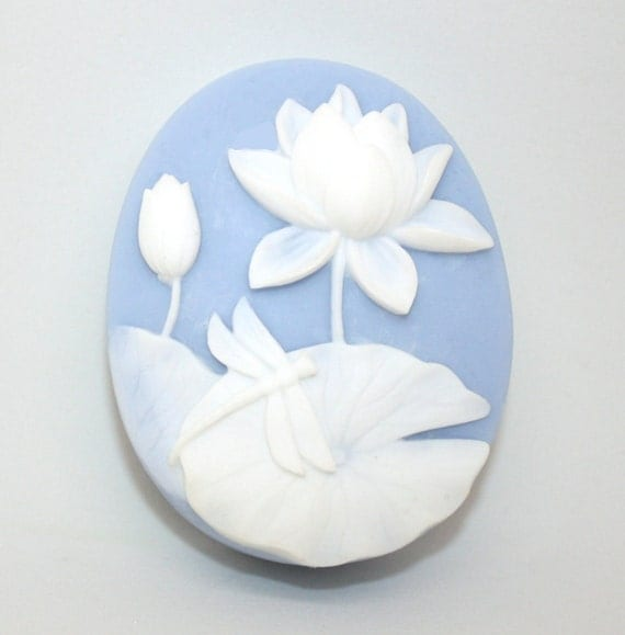 Dragonfly and Water Lily Soap silhouette flower insect