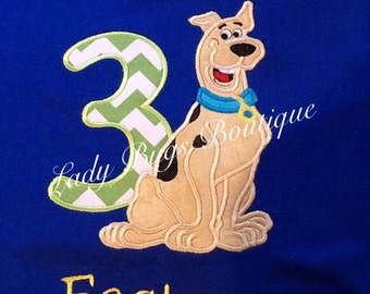 Scooby Doo Birthday Shirt with Number and Name*****Please Read Shop Announcement*****