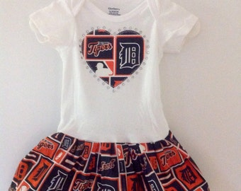 Detroit Tigers  Inspired Dress
