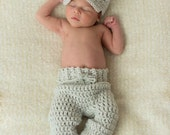 Baby Boy Clothes - Newborn Boy - Coming Home Outfit - Photo Outfit - Newborn Crochet Outfit - Crochet Hat - Baby Boy Hats - Crochet Hats