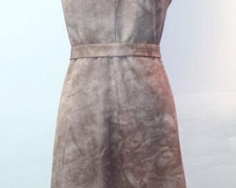 Vintage 1960s Wiggle Dress - Silky Tan Summer Dress