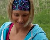 Performance Headband | Peacock Print | Workout Headband | Fitness Headband | Yoga Headband |