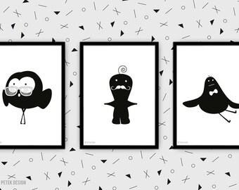 Nursery Decor / Set of Prints / Minimalist Kids Room / Kids Decor / Toddler's Room / Children Poster / Funny Kids Posters / Baby Shower Gift
