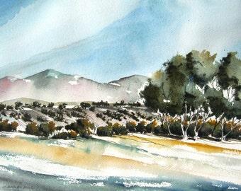 New Mexico Pinons - Original Watercolor Painting