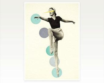 Dance Art Print, Retro Wall Art, Pop Art, Female Figure, Mid Century - The Rules of Dance I