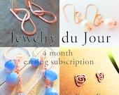 4 month earring subscription, Nature Nouveau copper earrings