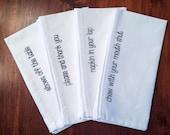 Linen Napkin Set of Four: Manners Napkins