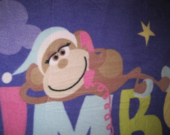 Slumber Party and 3 Monkeys with Moons, Stars, Pillows, Monkeys - Ready to Ship Now